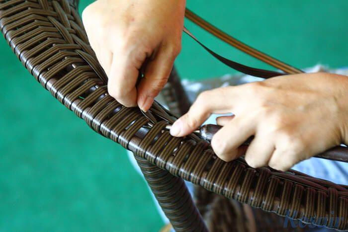 Реставрация плетеной мебели из ротанга